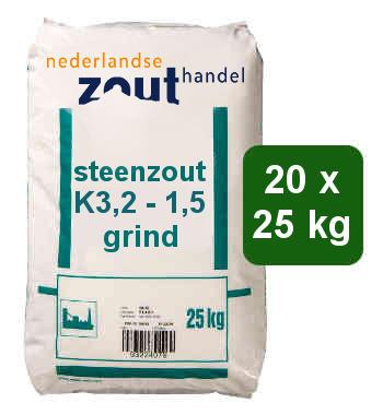 Steenzout K3.2-1.5 grind 20x25kg